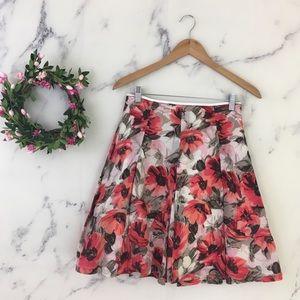 Banana Republic Poppy Floral Pleated Skirt